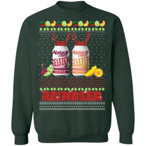 Natural Light Seltzer Catalina Lime Mixer Aloha Beaches Reinbeer Ugly Christmas Sweater