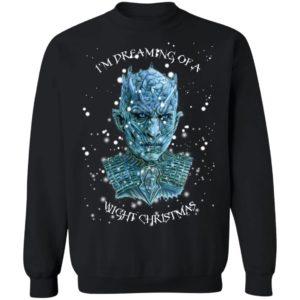 GOT Night King I'm Dreaming of A Wight Christmas Sweatshirt, Hoodie