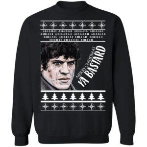 GOT Ramsay Bolton Merry Christmas Ya Bastard Ugly Sweater, Hoodie