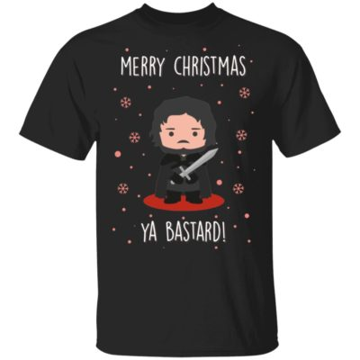 Game of Thrones GOT Jon Snow Merry Christmas Ya Bastard Sweatshirt, Hoodie