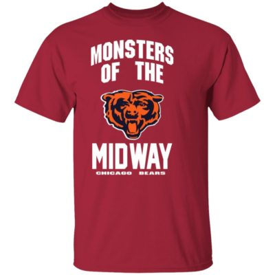 MONSTERS OF THE MIDWAY CHICAGO BEARS SHIRT, Ls, Hoodie