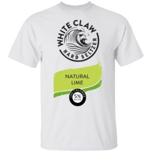 White claw Hard seltzer Natural Lime Halloween Costume Men T Shirt