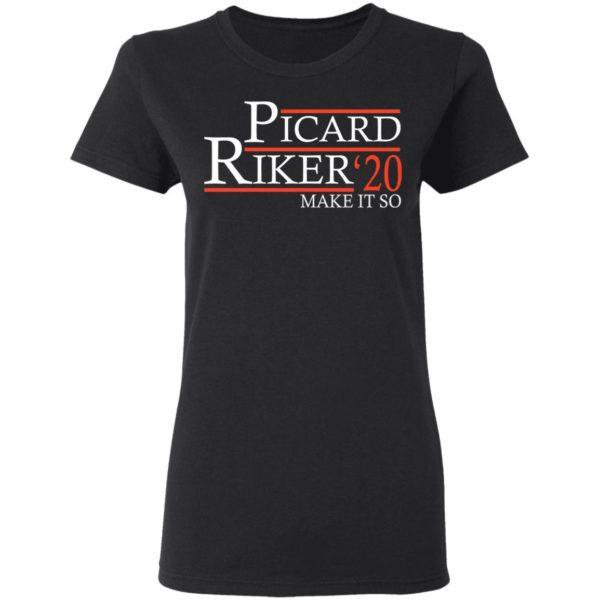 Picard Riker 2020 make it so shirt, Ls, hoodie