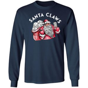 Santa Claws White Claw Christmas Drinking Shirt