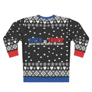 Biden vs Trump Battle For The Soul Of The Nation 3D Ugly Christmas Sweater