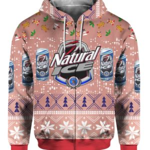 Natural Ice Beer 3D Print Ugly Christmas Sweater