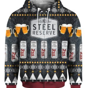 Steel Reserve Beer 3D Print Ugly Christmas Sweater