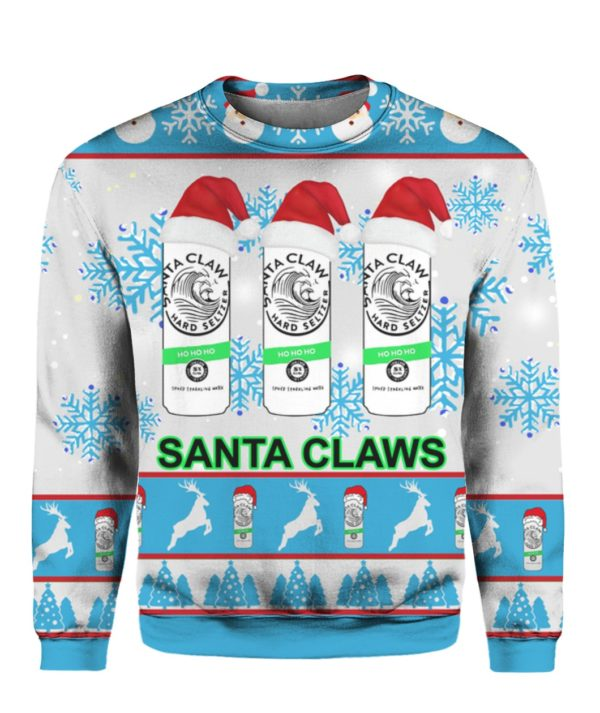 Santa Claws White Claw 3D Ugly Christmas Sweater