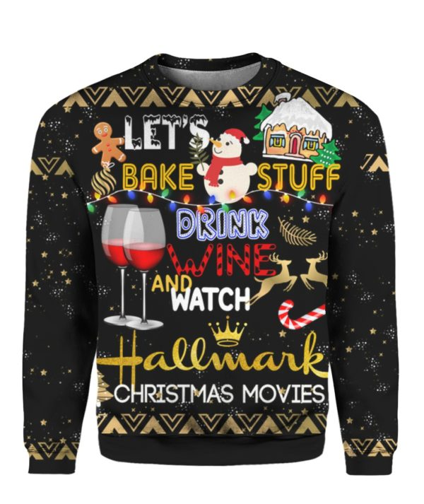 Hallmark Christmas Movies Lets Bake Stuff 3D Shirt
