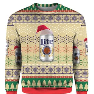 Miller Lite Beer 3D Print Ugly Christmas Sweater