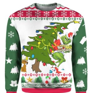 Grinch Stole Christmas Ugly 3D Print Sweatshirt