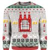 Budweiser Beer Red 3D Print Ugly Christmas Sweater