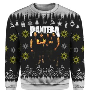 Pantera Band 3D Print Ugly Christmas Sweater