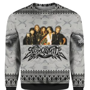 Aerosmith Band 3D Print Christmas Ugly Sweater, Hoodie