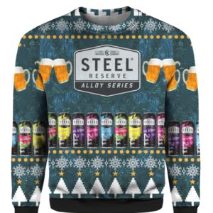 Steel Reserve Alloy Series Beer 3D Print Ugly Christmas Sweater