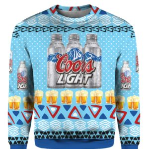 Coors Light Aluminum 3D Print Ugly Christmas Sweater