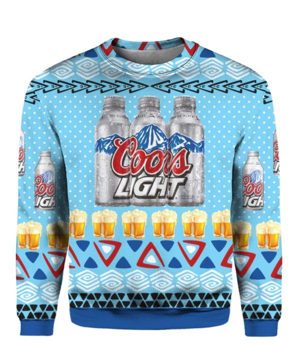 Coors Light Aluminum 3D Print Ugly Christmas Sweater