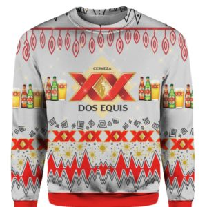 Dos Equis Beer 3D Print Ugly Christmas Sweater