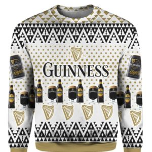 Guinness Beer 3D Print Ugly Christmas Sweater