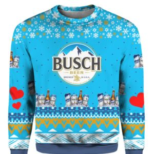 Busch Beer 3D Print Ugly Christmas Sweater