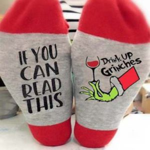If You Can Read This Drink up Grinches Unisex Sock
