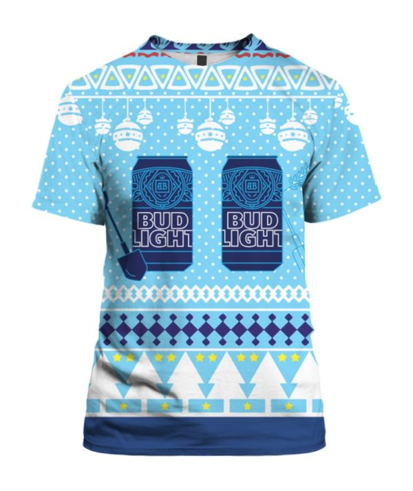Bud Light Can Beer 3D Ugly Christmas Sweater