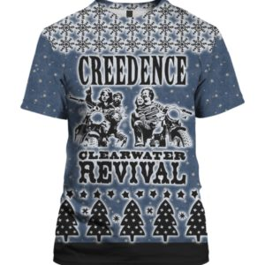 Creedence Clearwater Revival Rockband 3D Print Ugly Christmas Sweater