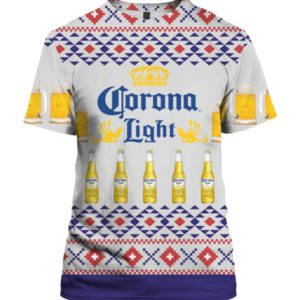 Corona Light Beer 3D Print Ugly Christmas Sweater