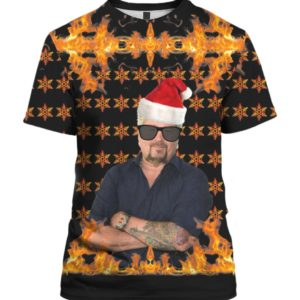 Guy Fieri Welcome To Flavortown 3D Print Christmas Sweater