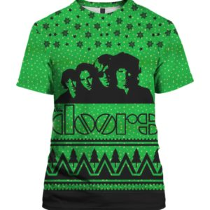 The Doors Band 3D Print Ugly Christmas Sweater