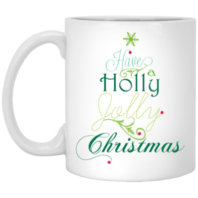 Have a holly jolly Christmas mugs, Travel mugs