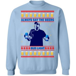 Jeff Adams Always Save The Beers Bud Light Ugly Christmas Sweater