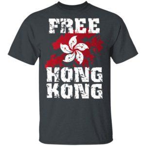 Stand With Hong Kong Flag Pro Democracy Tops Free Hong Kong Premium T-Shirt