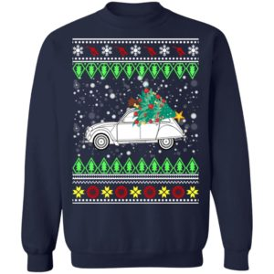 Citroen 2CV Ugly Christmas Sweater, Hoodie