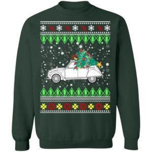 Citroen 2CV Ugly Christmas Sweater, Hoodie
