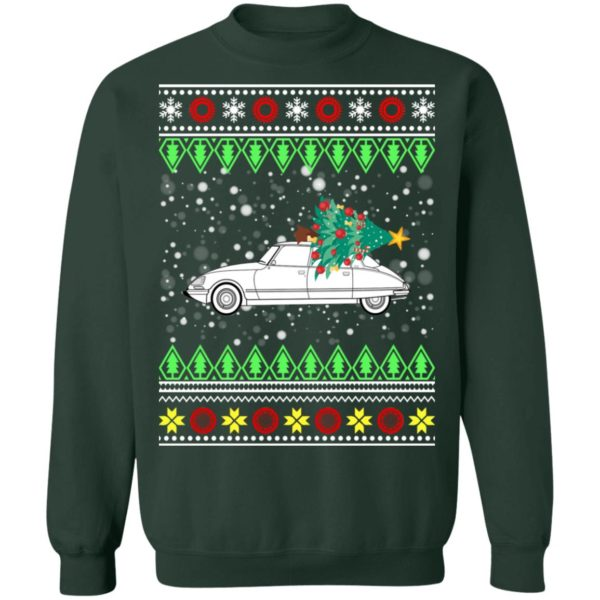Citroen DS 23 EFI Classic Car Ugly Christmas Sweater, Ho