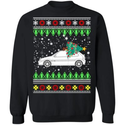 Citroen Saxo VTS Classic Car Ugly Christmas Sweater
