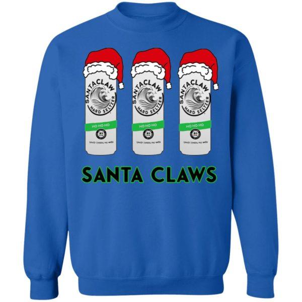 Santa Claws White Claw Christmas Shirt