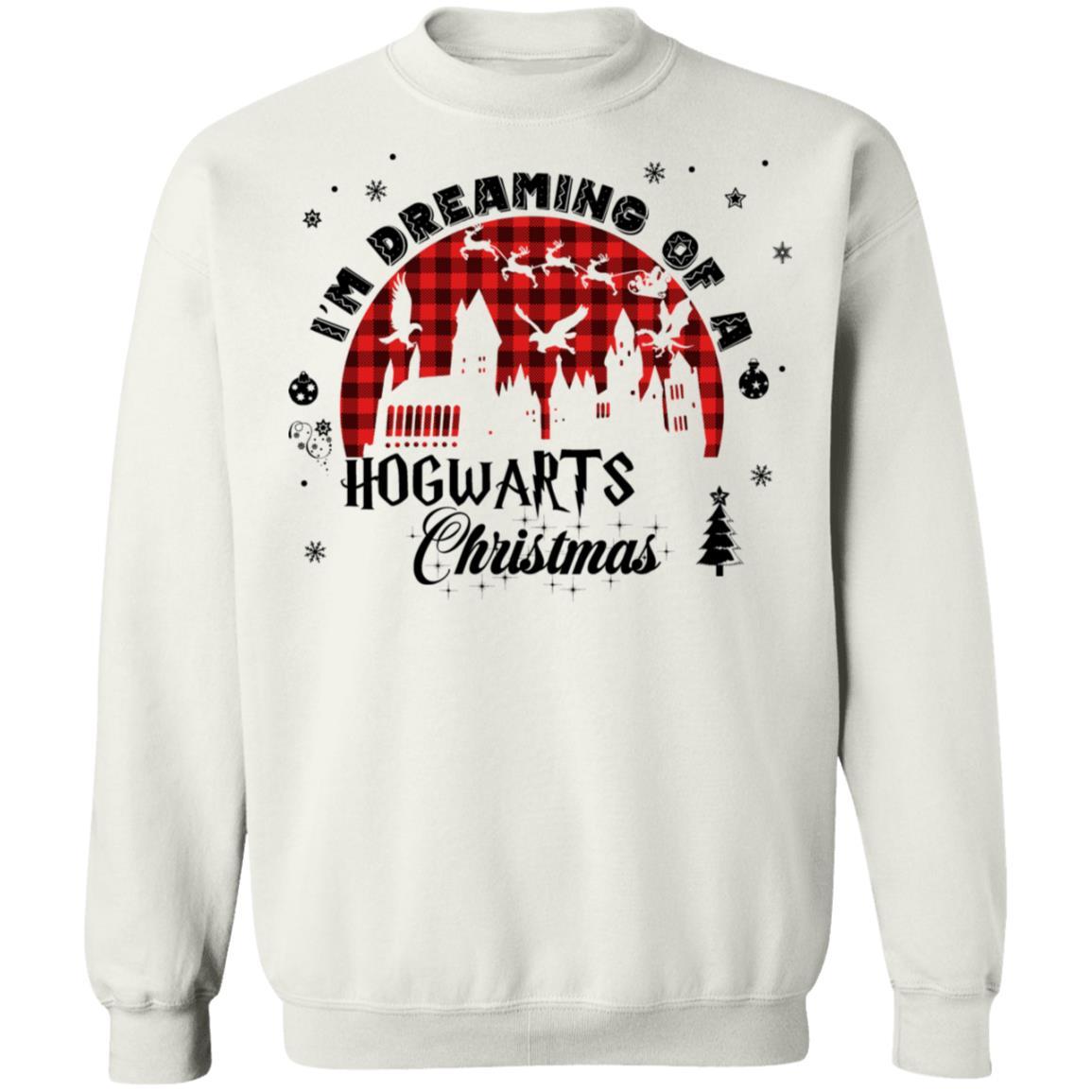 Harry Potter Christmas I'm Dreaming Of A Hogwarts Christmas Sweatshirt