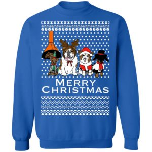 Merry Christmas Vintage Dogs Holidays Ugly Sweater, Hoodie
