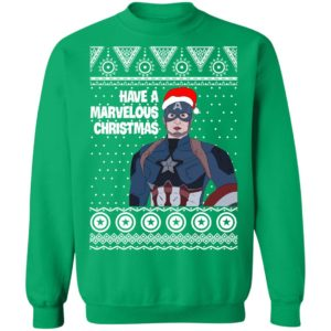 Captain America Have A Marvelous Christmas Avengers Ugly Sweatshirt, Hoodie, Long Sleeve