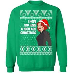 Black Widow I Hope You Have a Kick Ass Christmas Avengers Ugly Sweatshirt, Hoodie, Long Sleeve