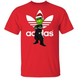 Christmas Santa Grinch Adidas Shirt Long Sleeve
