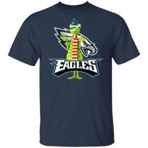 Santa Grinch Philadelphia Eagles Christmas Shirt, Long Sleeve