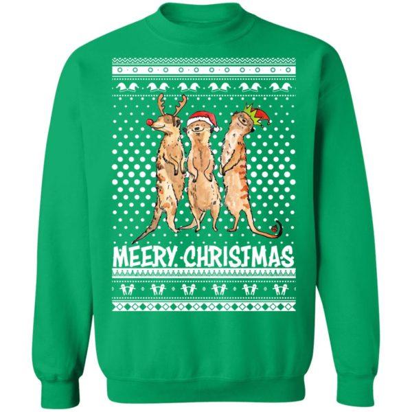 Meery Merry Christmas Meerkat Humour Animals Ugly Sweatshirt, Hoodie, Long Sleeve