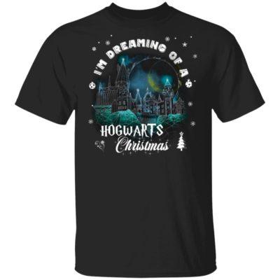 Harry Potter Christmas Sweatshirt I'm Dreaming Of A Hogwarts Christmas Long Sleeve, Hoodie