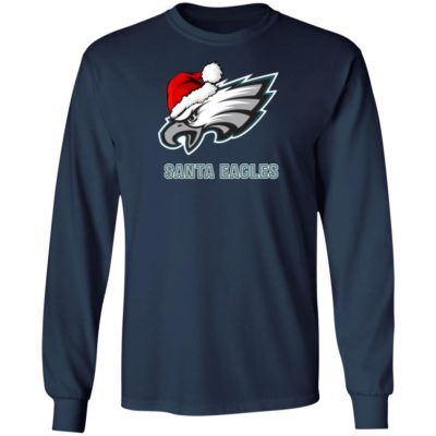 Santa Eagles Philadelphia Christmas Shirt, Long Sleeve, Hoodie