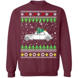 Citroen Traction Avant Classic Car Ugly Christmas Sweatshirt