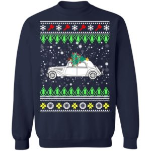 Citroen Traction Avant Classic Car Ugly Christmas Sweatshirt