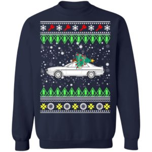 Lancia Gamma coupe Classic Car Ugly Christmas Sweatshirt